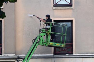 Nettoyage travaux ravalement façade